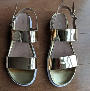 Aldo metallic gold sandals